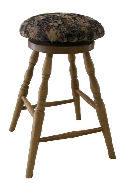 Amish Ohio Round Swivel Barstool