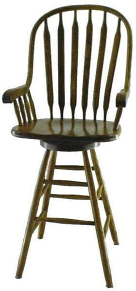 Amish Paddle Back Windsor Barstool
