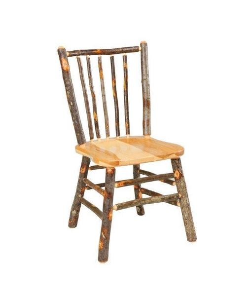 Amish Rustic Cabin Hickory Chair with Stick Back