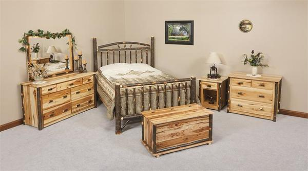 Ask Us A Question Amish Rustic Cabin Hickory Wood Wagon Wheel Bedroom Furniture Set