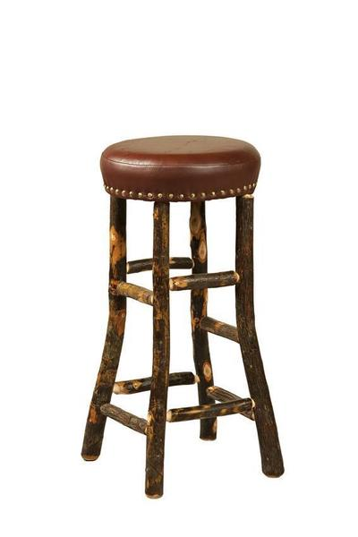 Amish Hoosier Rustic Hickory Bar Stool