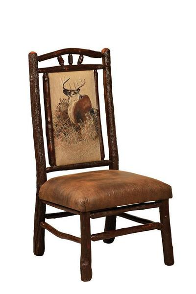 Hoosier Amish Rustic Hickory Log Dining Chair