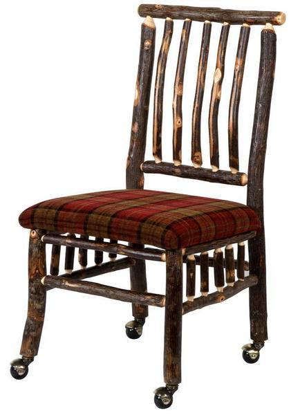 Rustic Hickory Twig Lake Dining Chair From Dutchcrafters Amish