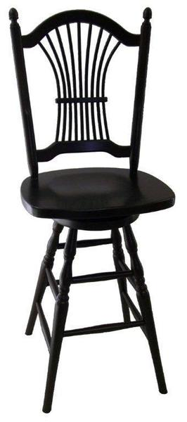 Amish Sheaf Back Bar Stool