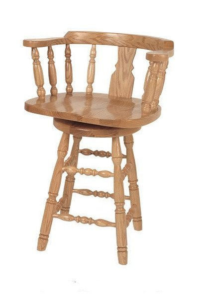 Cool Amish Grandfather Captains Swivel Barstool Pdpeps Interior Chair Design Pdpepsorg