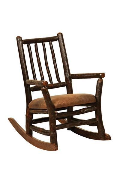 Amish Rustic Hickory Twig Child Rocking Chair