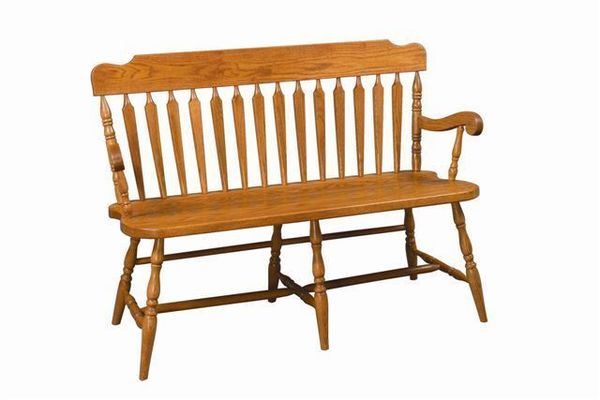 Amish Arrow Back Deacon's Bench