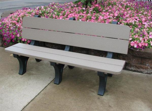 """Berlin Gardens 72"""" Residential or Commercial Poly Park Bench"""