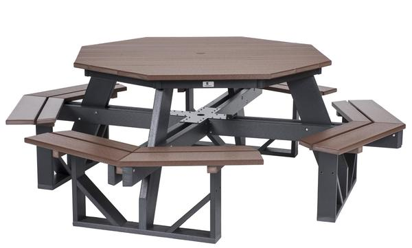 Berlin Gardens Octagon Poly Picnic Table