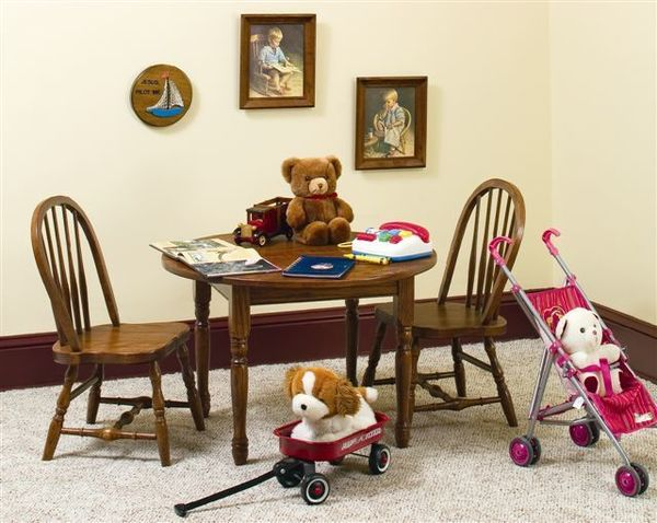 Amish-Made Kids' Windsor Table and Chairs Set