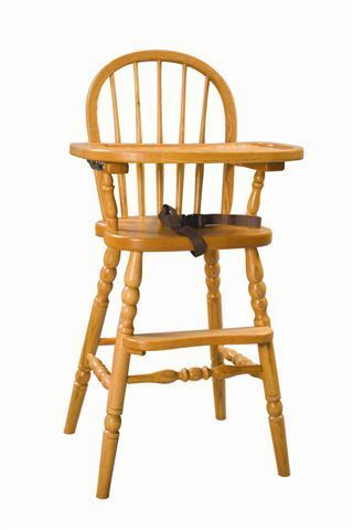 Amish Lancaster Bow-Back High Chair
