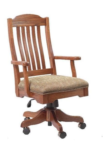 Amish Royal Desk Arm Chair with Gas Lift