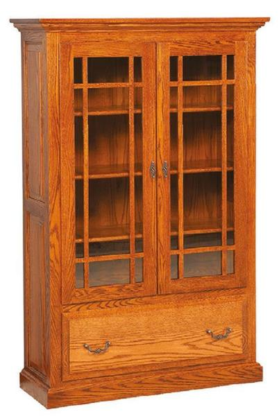 Amish Raised Panel Book Case