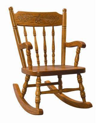 Amish Acornback Kids' Rocking Chair