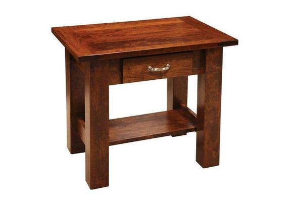 Amish Havannah End Table with Breadboard Ends