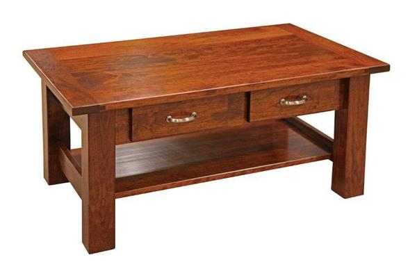 Amish Havannah Coffee Table with Breadboard Ends