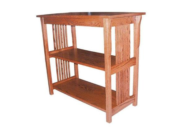 Amish Prairie Mission Sofa Table with Two Shelves