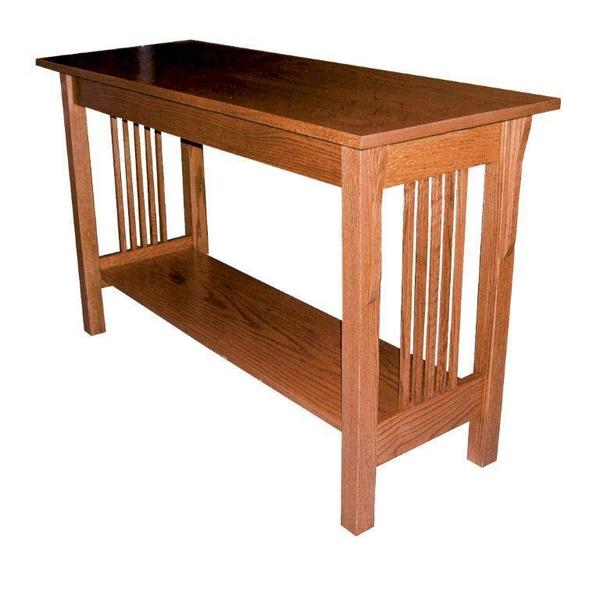 Mission Sofa Table With 2 Drawers