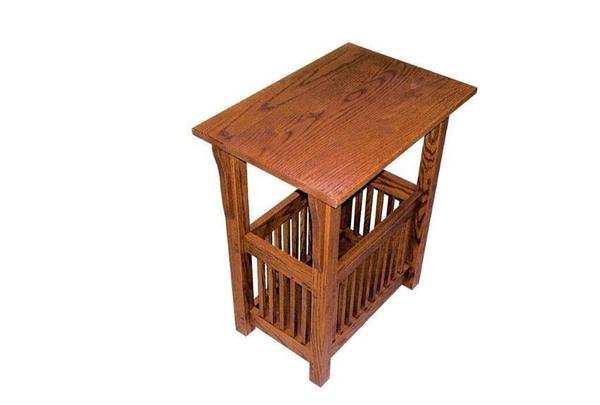 Solid Wood Prairie Mission Magazine End Table