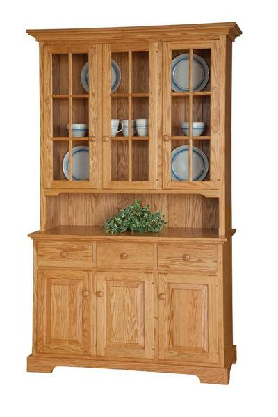 "Amish 48"" Three Door Buffet with Hutch Top"