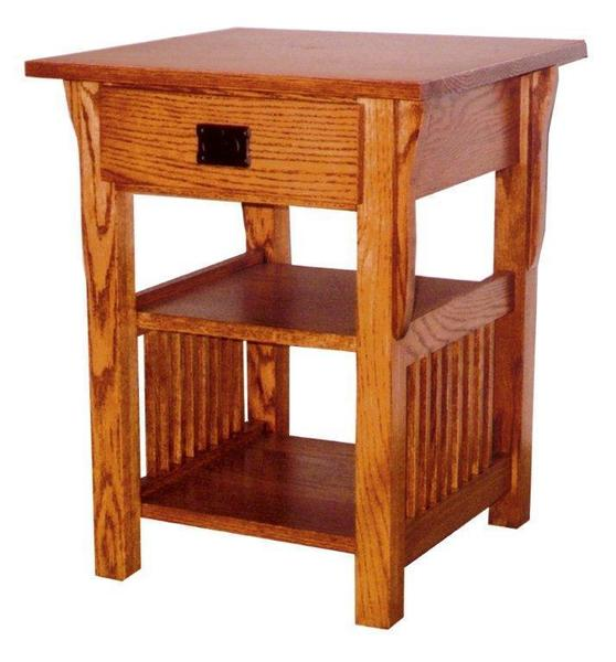 Prairie Mission Small Lamp End Table with Drawer