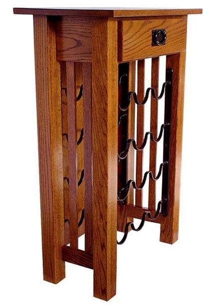 Amish Mission Wine Rack Stand
