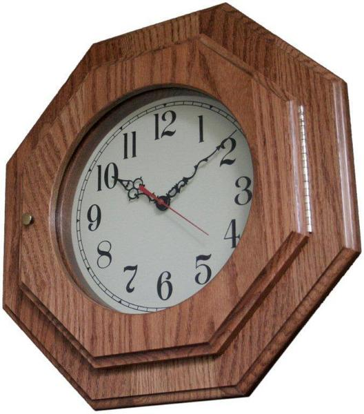 Amish Handcrafted Octagon Wall Clock