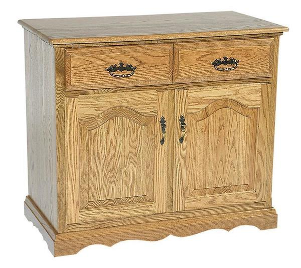 "Amish Solid Wood Two Door Buffet - 38"" Wide"