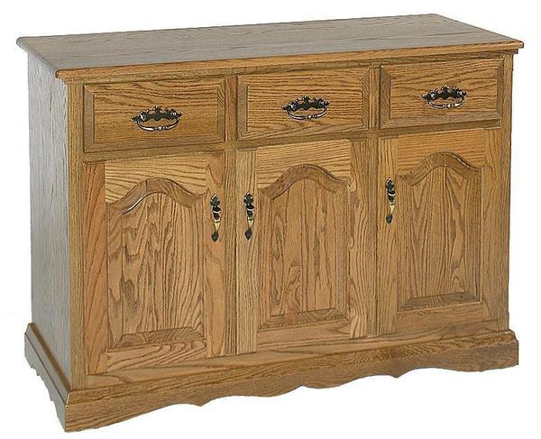 "Amish Solid Wood 3 Door Buffet - 47"" Wide"