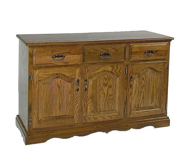 "Amish 3 Door Buffet - 56"" Wide"