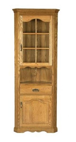 Amish One Door Small Corner Hutch