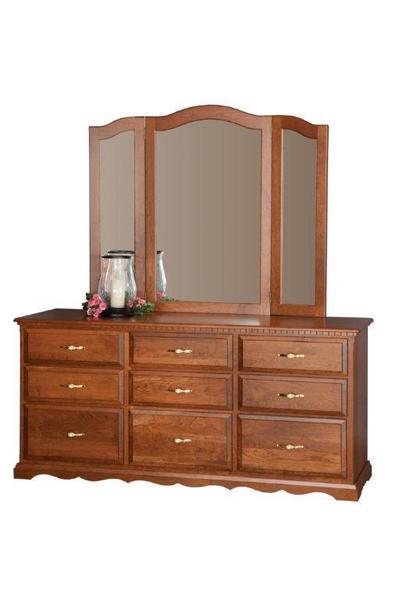 "Amish 68"" Large Solid Wood Dresser"