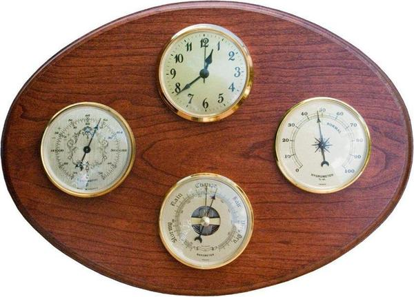 Amish Handcrafted Weather Station with Clock