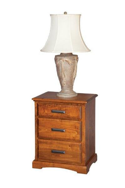 Amish Three Drawer Night Stand - 23""
