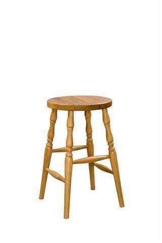 Amish Made Wood Backless Barstool