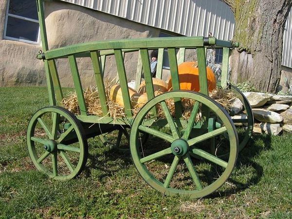 Amish Old Fashion Goat Cart - Large Rustic