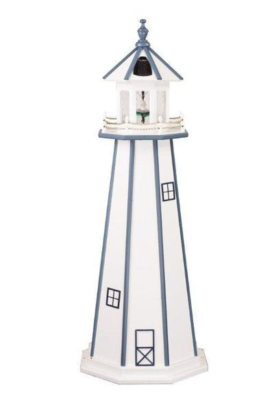 Amish-Made Wooden Garden Lighthouse