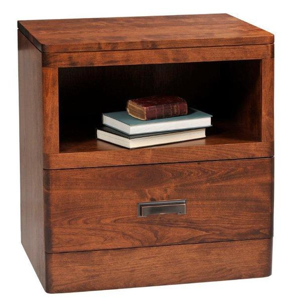 Amish Crossan Night Stand with One Drawer