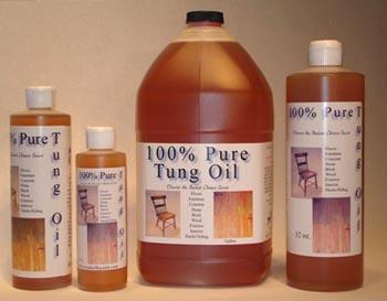 Wood Finishing 100% Pure Tung Oil Finish 8 Ounces