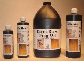 Wood Finishing Dark Raw Tung Oil Gallon