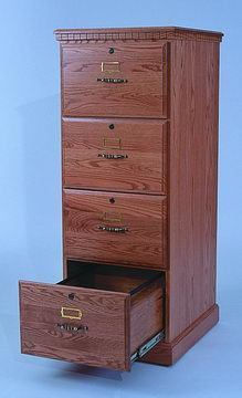 Amish File Cabinet 4 Drawer