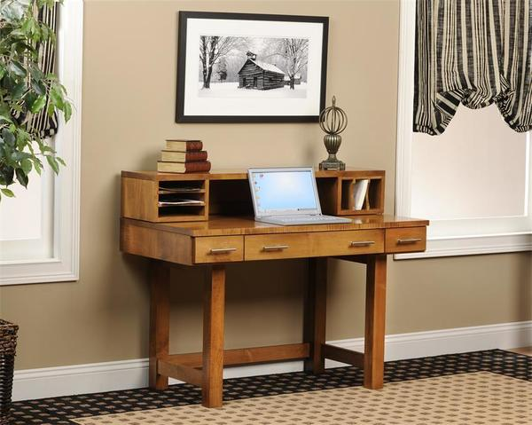 "Amish 48"" Urban Desk with Hutch Top"