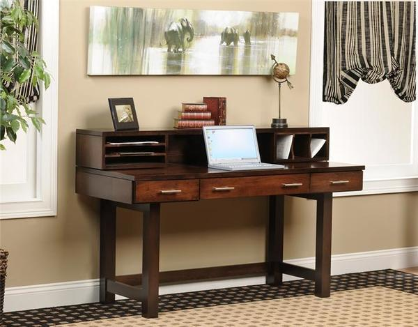 "Amish 60"" Urban Desk with Hutch Top"
