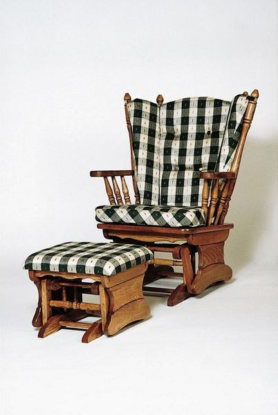 Amish Four-Post Gliding Rocker with Ottoman
