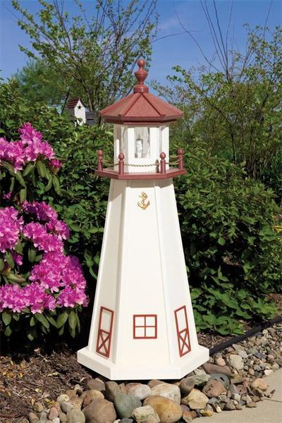 Amish-Made Marblehead Poly Garden Lighthouse