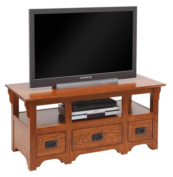 "Amish 48"" TV Stand with Drawers"
