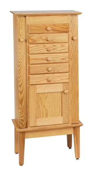 """Amish 48"""" Winged Shaker Jewelry Armoire"""