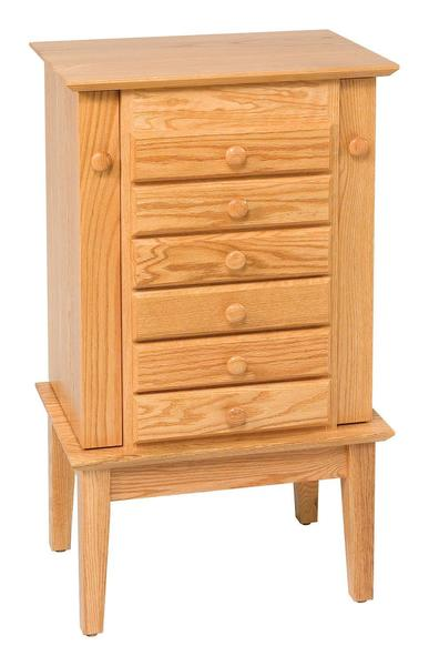 "Amish 35"" Shaker Jewelry Armoire"
