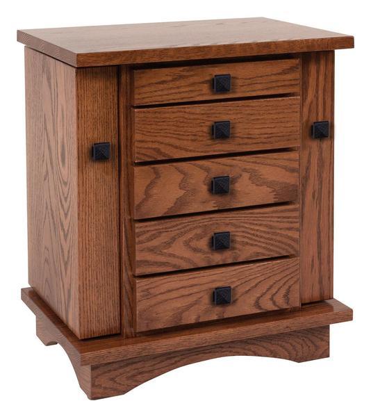 """Amish 20"""" Mission Dresser Top Jewelry Box"""