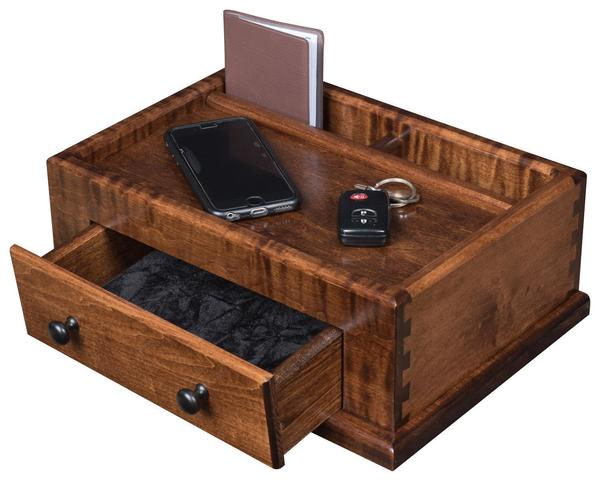 Cherry Or Oak Men S Valet Box From Dutchcrafters Amish